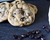 Coffee Bean Cookies, Chocolate Chip Cookies, homemade baked goods, homemade cookies