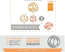 4 sizes- Fancy Circle Alphabet/Font: Embroidery Design/ Files for download for embroidery machine / Embroidery Font / Embroidery Monogram