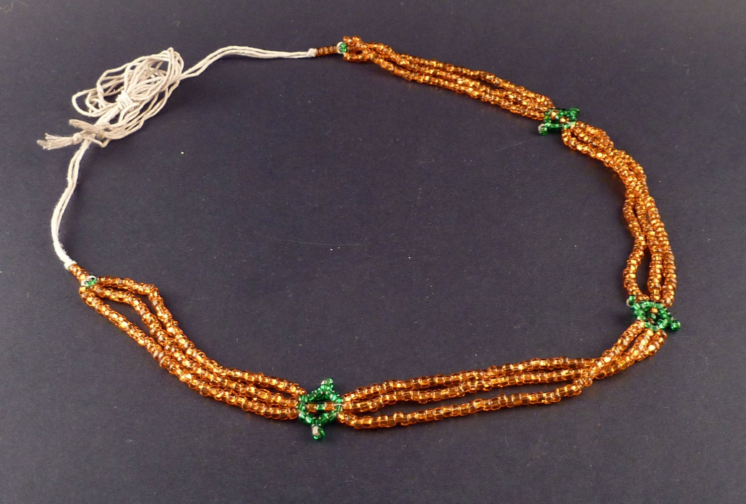 beaded necklace tribal ethnic necklace