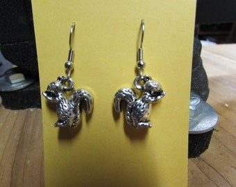Squirrel Earrings, Squirrel jewelry, Kent State Mascot, Kent State, Ohio, squirrel, squirrels
