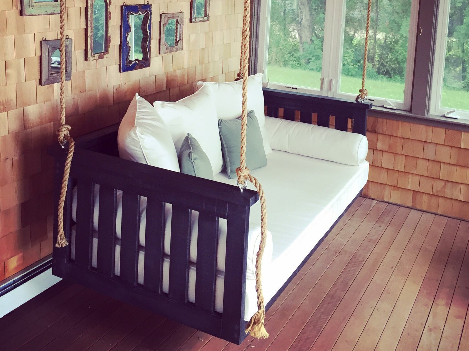 porch swing the windermere swing bed free. Black Bedroom Furniture Sets. Home Design Ideas