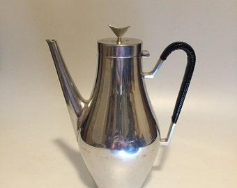 Reed and Barton Pewter Tea Pot Denmark designed by John Prip 1950's