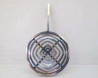 Artisan Circle Drop Pendant in Sterling Silver