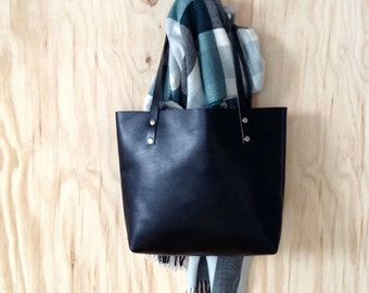 Leather Tote Bag, Leather Tote Black, Leather Bag, Black Tote,  Leather Bag Handmade, Leather Bags Women, Gift for her