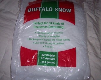 Fiberfill Snow,stuffed animal stuffing,soft crafts,Christmas crafting,polyfill,16 oz bag,100% polyester