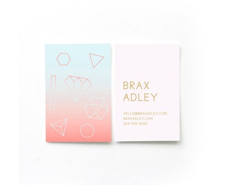 Sunset Geometry Business Cards // DIY Business Cards // Printable Business Cards // Instant Download Business Cards // WORD FILES