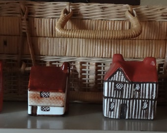 4 Mudlen End Studio miniature cottages made in England