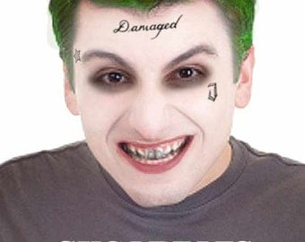 Suicide squad etsy for Suicide squad face tattoo
