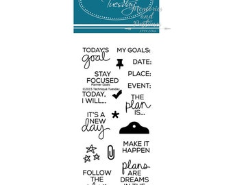 Goals Planner Stamp Set - Technique Tuesday - Clear Acrylic - 385902