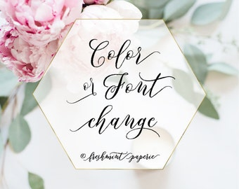 Custom color changes - calligraphy logo - business logo - business card - freshmint paperie