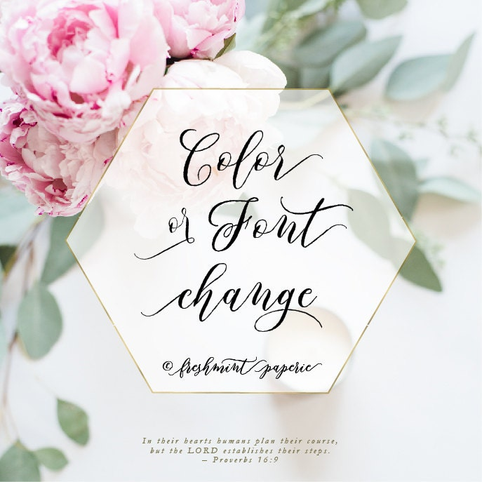 Custom color changes calligraphy logo business