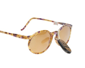 Rayban Bausch & Lomb USA Asbury W1722 vintage oval havana - violet sunglasses with G15 Chromax Crystals, Nos 1980s
