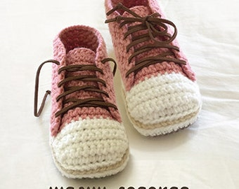 Sneakers Crochet Patterns Woman Sneaker Pattern Design Lady Sneakers Home Female Slippers Adult Crochet Shoes Women sizes 5 - 10 Female