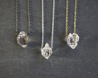 Herkimer Diamond Necklace // Herkimer Diamond // Select Diamond // Custom Length Chain // Crystal Necklace // Herkimer Necklace // Herkimer