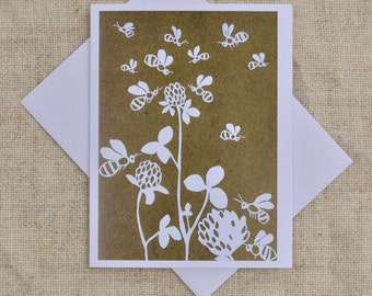 Buzzing Bees- Blank Greeting Card