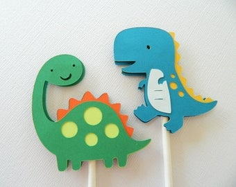 24 Dinosaur Cupcake Toppers, Cupcake Toppers, Dinosaur Cupcake Toppers