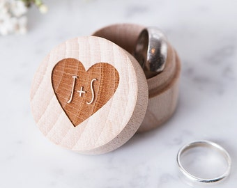 Personalised Wedding Ring Box - Rustic Wedding Box - Wooden Ring Box - Personalised Couples Gift - Ring Bearer - Ring Holder - Wedding Gift