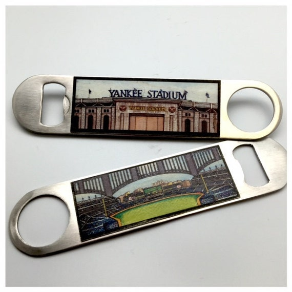 yankee stadium bottle opener yankees gift ny baseball fan. Black Bedroom Furniture Sets. Home Design Ideas