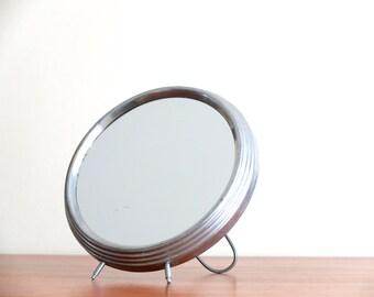 Ancien miroir hibou chouette oeil de sorciere par for Miroir grossissant 50