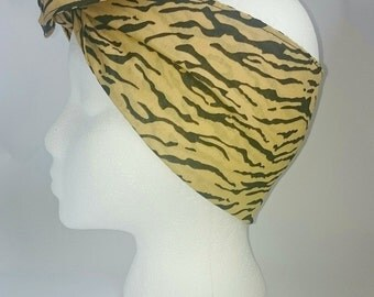Hattie's Bad Hair Days Retro Animal Print Headscarf 'On A Budget' Poly/Cotton *** SALE ***