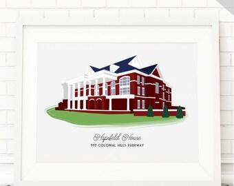 Custom House Portrait for Housewarming gift, First Home Portrait House Drawing, House Painting, House illustration House Warming Gift