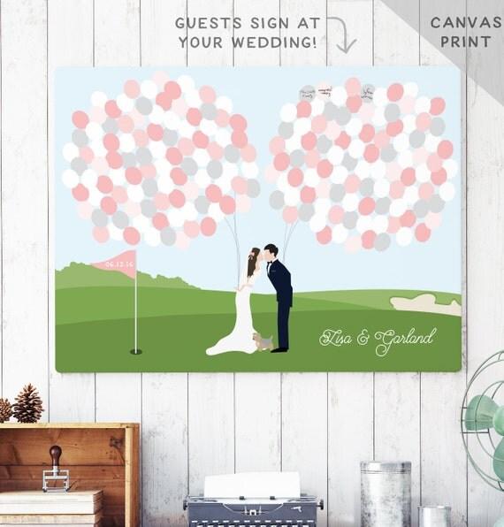 Golf Course Wedding Ideas: Golf Course Wedding Canvas Guest Book Alternative Golf