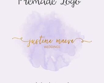Gold Foil Watercolor Logo, Handwritten Script Logo, Gold Foil Logo, Wedding Planner Logo, Elegant Premade Logo, Designer Logo, Business Logo