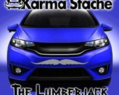 """36"""" Car Mustache Vinyl Decal Sticker - Style; Lumberjack - Color; Gray  -  Karma Stache: Your #1 Source for Car Mustaches!"""