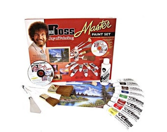 Bob Ross Master Paint Set with 1 Hour DVD Free Shipping