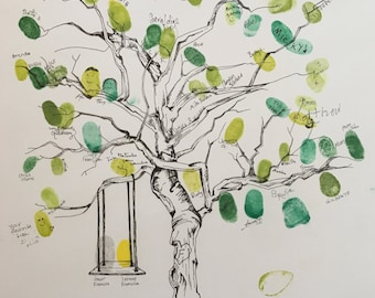 Francica: Fingerprint Tree Guest Book