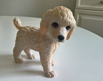 Vintage Lenox Breed Puppy Collection Poodle Pup Fine Porcelain Figurine -- Retro Dog Lovers Fancy Cute Elegant Collectable Figure Home Decor
