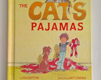 The Cat's Pajamas by Ida Chittum --- Illustrated by Art Cumings --- Vintage Children's Picture Book --- 1980's Fun Library Bedtime Story