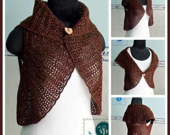 Crocheted circle vest - free worldwide shipping