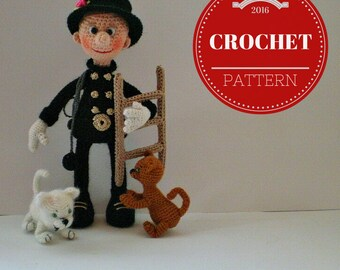 Cheerful Chimney Sweeper – PDF Crochet Toy [Instant Pattern Download]