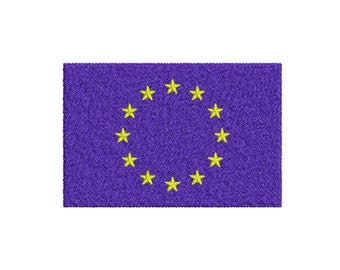 Machine Embroidery Design Instant Download - European Union Flag