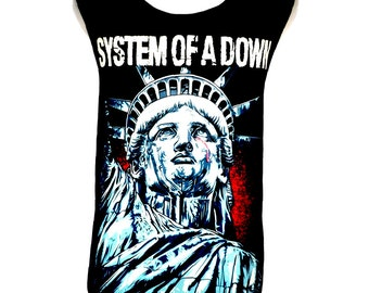 System of a Down Rock Band Music Metal T Shirt Tank Top Vest Size M