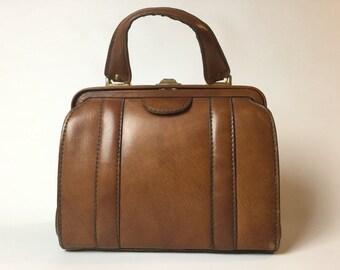Cognac Leather Bag