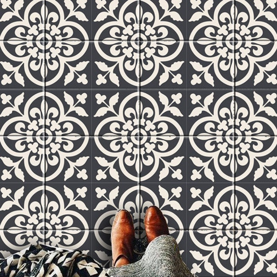Bleucoin Tile Decal Backsplash: Moroccan Kitchen/bathroom/stair/floor Tile Stickers: By