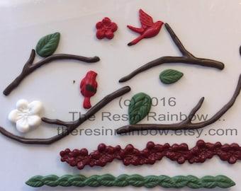 Natures Way || Embellishment || resin || handpoured || custom made || card making || scrapbooking || nature