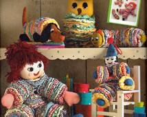 Simplicity 2708, Fabric Yo Yo Toys, Yo Yo Dolls, Yo Yo Clown, Caterpillar, Puppy, and YoYo Owl, Vintage Pattern from Simplicity Archives