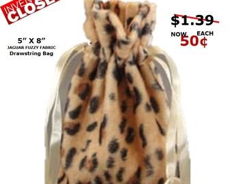 CLOSEOUT Leopard Animal Print Bag 5x7 -  5 Pack