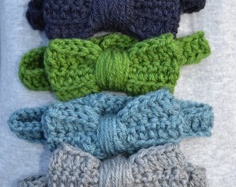 Assorted Crocheted Bow Ties with Adjustable Strap Toddler/Young Child Ready to Ship