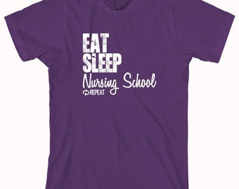 Eat Sleep Nursing School Repeat Shirt, nursing degree, nurse program, student - ID: 850