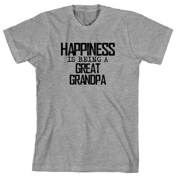 Happiness Is Being A Great Grandpa Shirt, new grandpa, gift for grandpa, christmas gift - ID: 1682