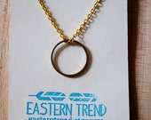 On Sale: Simple Circle Necklace