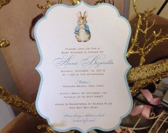 Great Peter Rabbit Invitation Baby Shower Invitation Peter Rabbit Shower  Invitation Peter Rabbit