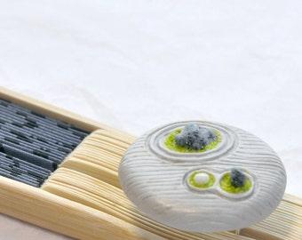 Zen Garden Polymer Clay Adjustable Ring Japanese Rock Garden Statement Ring Nature Inspired Unique Gift