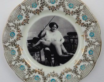 Dolores the Disciplinarian - Altered Vintage Plate