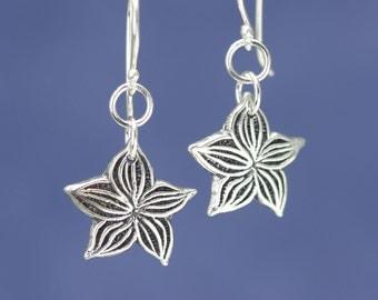 Sterling Silver Flower Earrings – Sterling Silver Earrings – Sterling Flower Earrings – Sterling Earrings – Sterling Silver Flower Jewelry