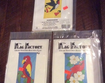 Lot Of 3 Patterns From The Flag Factory Bird Themed 63893 63577 63890 UNCUT New